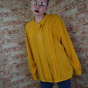 Vintage Mustard Yellow Buttondown Top